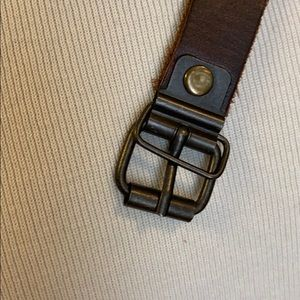 Thin Brown Leather Belt